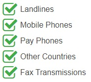 Argentina virtual phone numbers are accessible from any of the following devices and networks