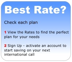 Which plan is best for you? Click either plan to view international call rates to any country.