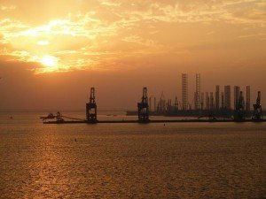 Bahrain Sunset Industrial