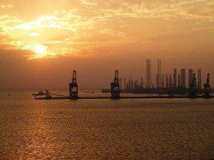 Bahrain Sunset Industrial