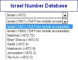 Israel Virtual Number Database
