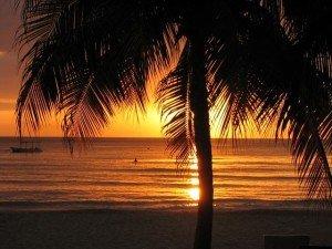 Jamaica Negril, sunset beach