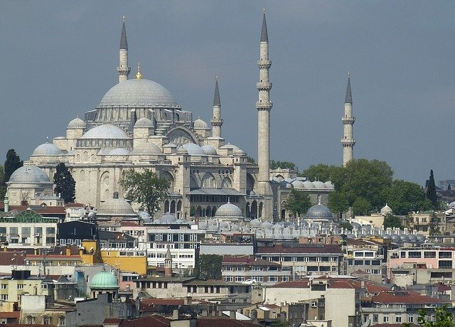 Istanbul Turkey Bosphorus Mosque Golden Horn