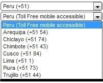 Peru Virtual Numbers
