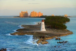 bahamas lighthouse caribbean sea atlantis travel