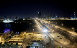 Bahrain at night image