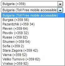 Bulgaria Virtual Number Database