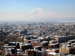 Overview over Yerewan (Armenia) with Ararat in background *License: Creative Commons by/sa/de *Date: March 2005 *Photographer: de:Mcschreck, uploaded by Roger Zenner {{de-cc-by-sa-2.0}}