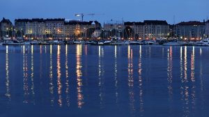 Helsinki City at Night Finland
