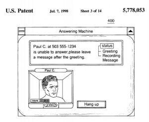 Answering machine patent