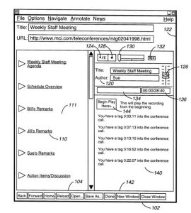 In 2000, Sony applied for a patent for its network conferencing system, attendance authentication method and presentation method.