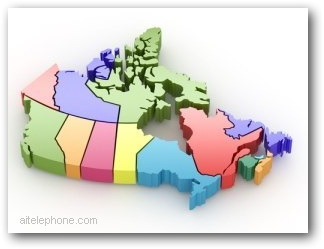 Conference Call Canada Map