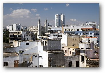 Rooftop Skyline View of Casablanca Morocco