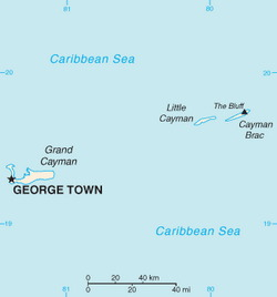 Cayman Islands Map CIA