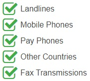 Cayman Islands National Phone Numbers are accessible from the following devices and networks