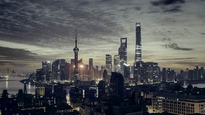 China Evening Skyline