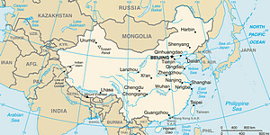 China Map CIA