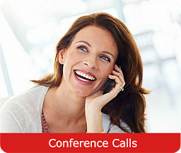 Conference call services for domestic and global collaboration
