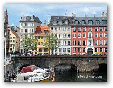 Copenhagen Denmark Old Houses on a Canal