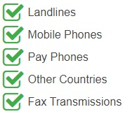 Costa Rica National Number can be dialed from the following devices and networks