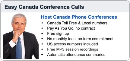 Easy Canada Conference Calling