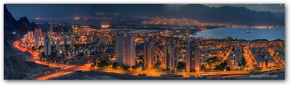 Eilat and Aqaba Jordan at Night