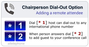 Optionally connect anyone to your call regardless of their country location using the included dial-out feature.