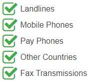 France Geographic Phone Numbers are accessible from the following devices and networks