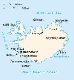 Iceland Map CIA
