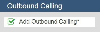 Outbound Calling Option