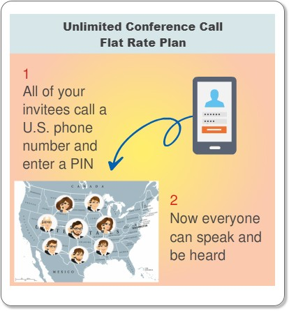 Unlimited Flat Rate Conference Call Infographic