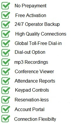 Included Conferencing Features
