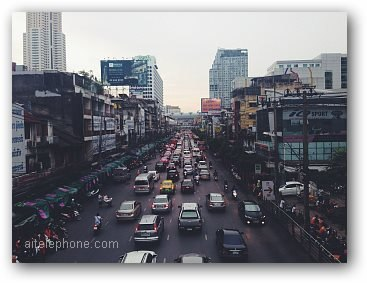 City Traffic Jam India Street