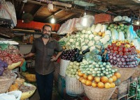 India Mumbai fruit market