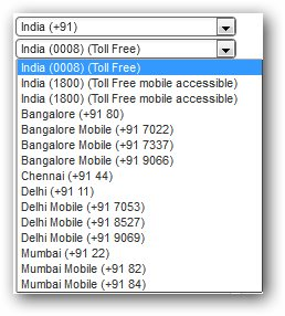 Screen Capture India Virtual Number database as of June 6, 2016