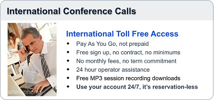 The global conference call service offered by AIT