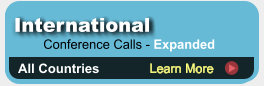 Expanded Global conference calls with 2.6 cents US/Canada rate