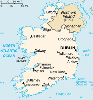 Ireland Map CIA