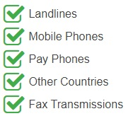 Ireland National Numbers are accessible from the following devices and networks