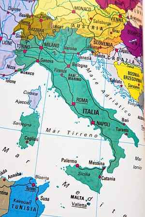 Italy Virtual Number map