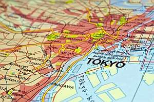 Japan Map featuring Tokyo