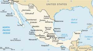 Mexico Map CIA