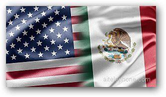Mexico USA Virtual Number Flag