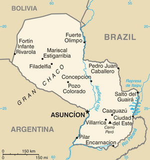 Paraguay Map CIA