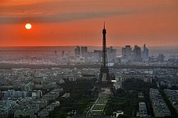 Paris France Eiffel Tower La Defense City image