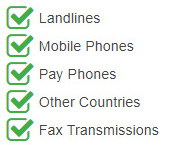 Paris Virtual Phone Number is accessible from the following devices and countries