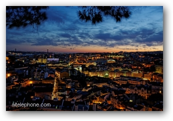 Lisbon Portugal old town at night - a historical city