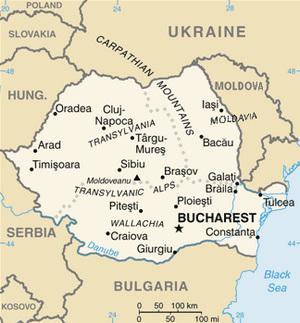 Romania Map CIA