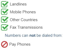 Romania Mobile Accessible Phone Numbers can be called from the following devices and networks