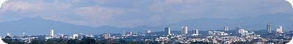 Panorámica de la ciudad de San José.English: San José city panorama